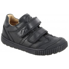 Noel Omar Velcro Black School Shoe